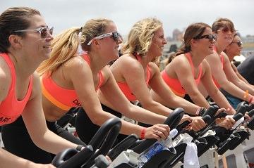 women on spin bikes
